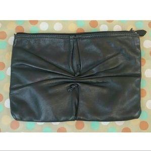 Vintage Letisse Navy Blue cinched zipped clutch